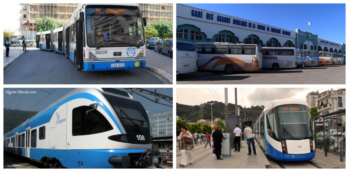 خدمة النقل الحضري وعبر السكك الحديدية في الجزائر