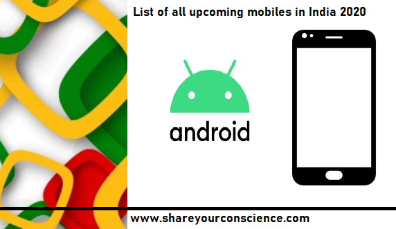 List of all upcoming mobiles in India 2020