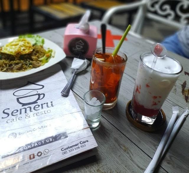 menu semeru cafe jember
