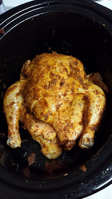 Simple Crock Pot Roasted Chicken Recipe.