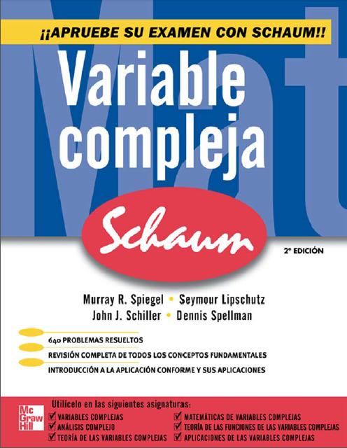 Variable compleja, 2da Edición – Serie Schaum