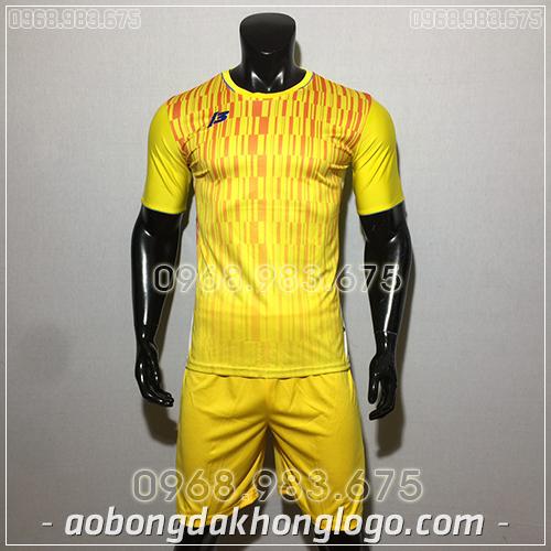 Áo bóng đá ko logo ZB màu vàng