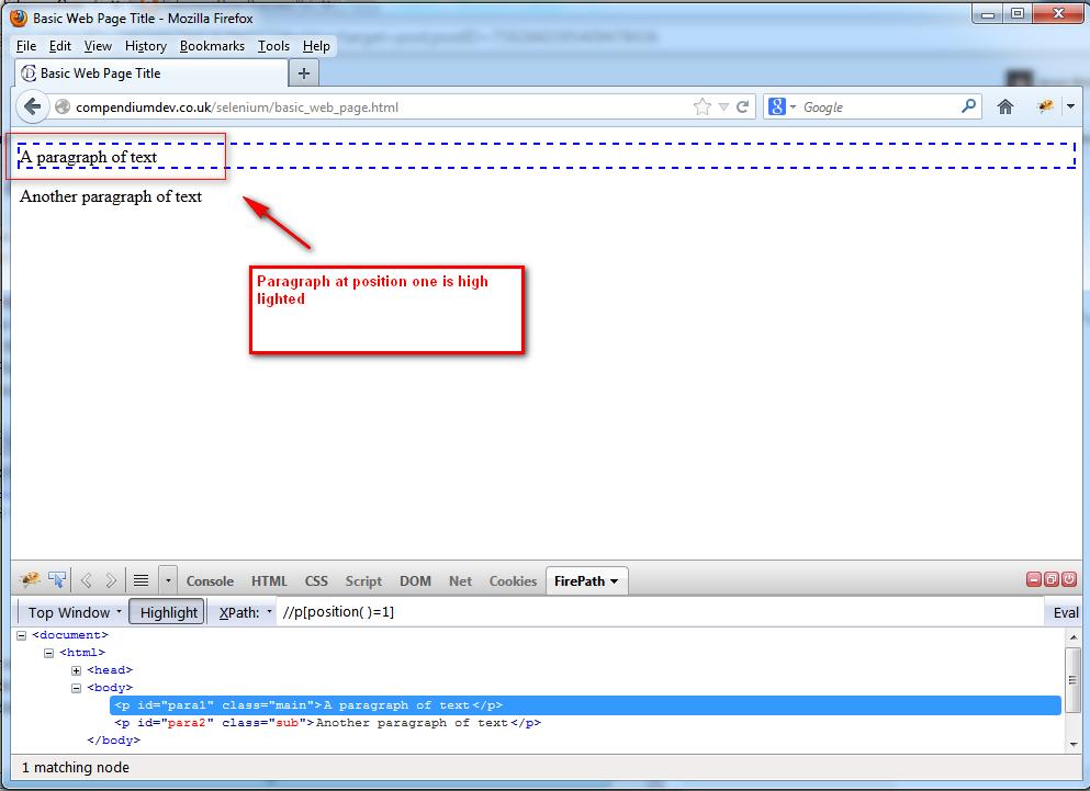 SeleniumOne (QAFox com): 64  position( ) - XPath function