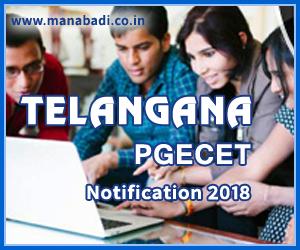 Telangana PGECET Notification 2018