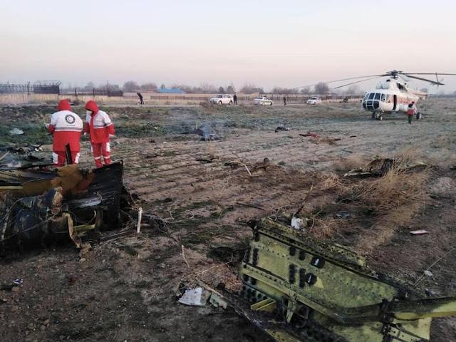 Image Attribute: Crash site of Ukraine International Airlines Boeing 737-800 (Flight No: PS752), near Tehran International Airport