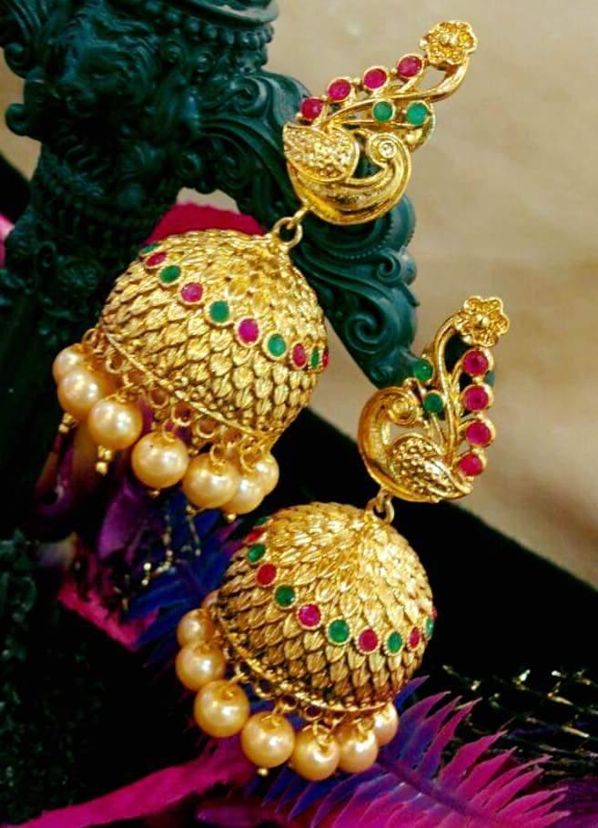Exclusive Temple Earrings Buy Online Temple Jumkas