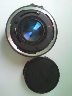 Canon FD 50mm f/1.8 belakang