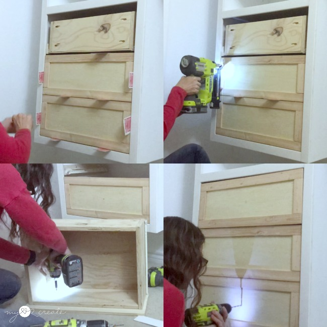 How to attach drawer fronts, MyLove2Create