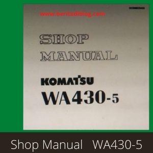 Komatsu WA430-5 shop manual wheel loader