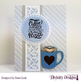 But First Coffee, Stamp/Die Duos: Cocoa & Coffee, Custom Dies: Fancy Circles, Filigree Circles, Paper Collection: Baby Boy