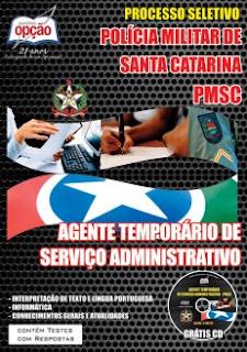 Apostila Concurso PMSC 2015 - Agente Temporário de Serviço Administrativo