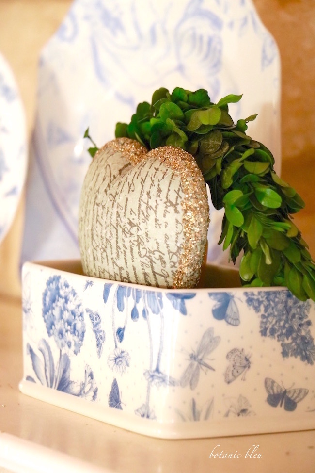 paper-mache-heart-in-blue-and-white-dish