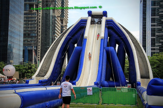 Inflatable slide, DBS Marina Regatta, Singapore
