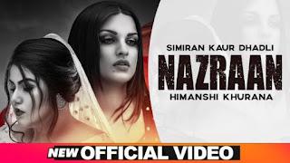 Nazraan Lyrics Simiran Kaur Dhadli ft Himanshi Khurana