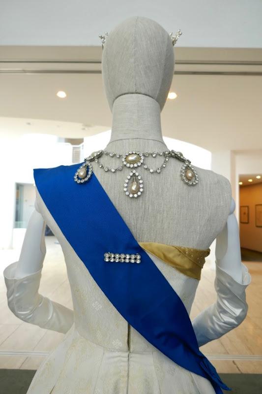 Queen Elizabeth II Ambassador Ball Gown back Crown