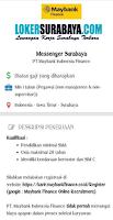 Open Recruitment at PT. Maybank Indonesia Finance Surabaya Agustus 2020