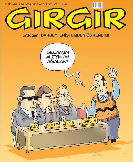 Gırgır Dergisi - 27 Temmuz - 2 Ağustos 2016 Kapak Karikatürü