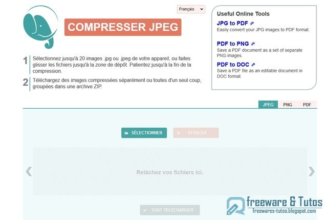 Une application en ligne 3-en-1 pour compresser les JPEG, PNG et PDF