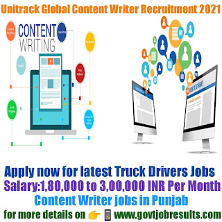 Unitrack Global Content Writer Recruitment 2021-22