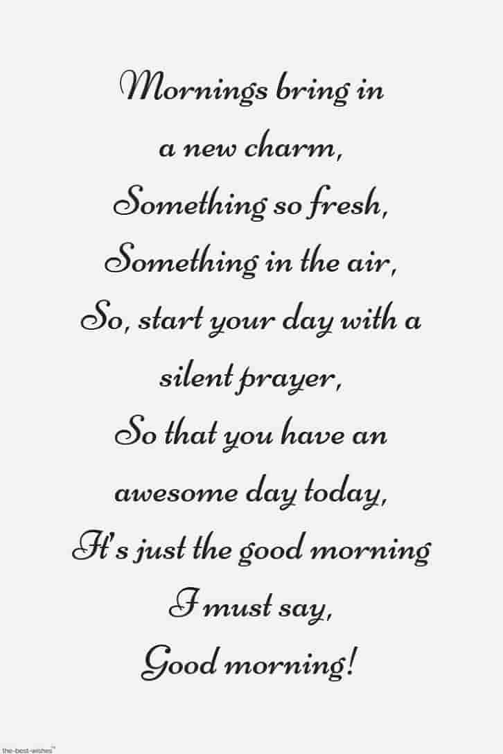 prayer poem to start her day
