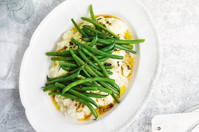 Cauliflower puree with green beans and lemon thyme butter meal ideas