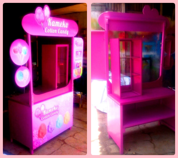 Booth Portable arum manis
