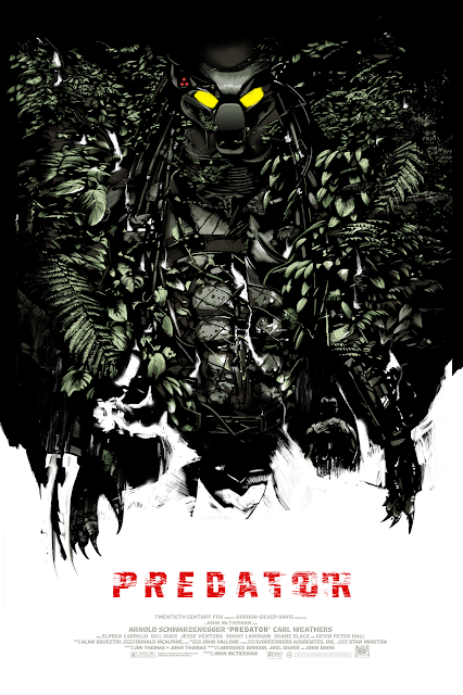 Predator Movie Poster Screen Print by Oliver Barrett x Bottleneck Gallery