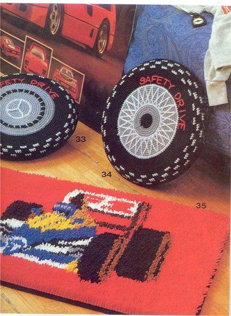 "Patron Crochet Cojines ""Neumaticos"" Infantil"