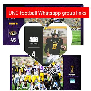 UNC football Whatsapp group links