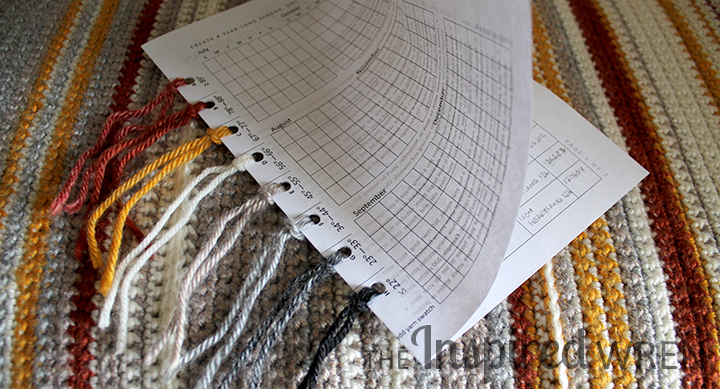 Printable Reference Card and Chart for a Temperature Afghan | The Inspired Wren