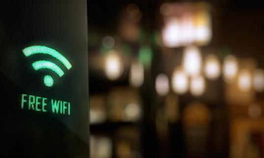 free wi fi sign