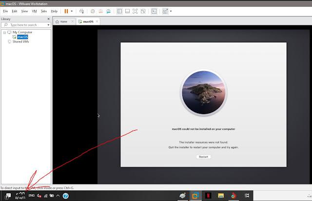 حل مشاكل قد تواجهك اثناء تثبيت ماك على ويندوز 👍 نضغط على (R + شعار ويندوز ) قبل ظهور رمز التفاحة لمدة ل 20 ثانية