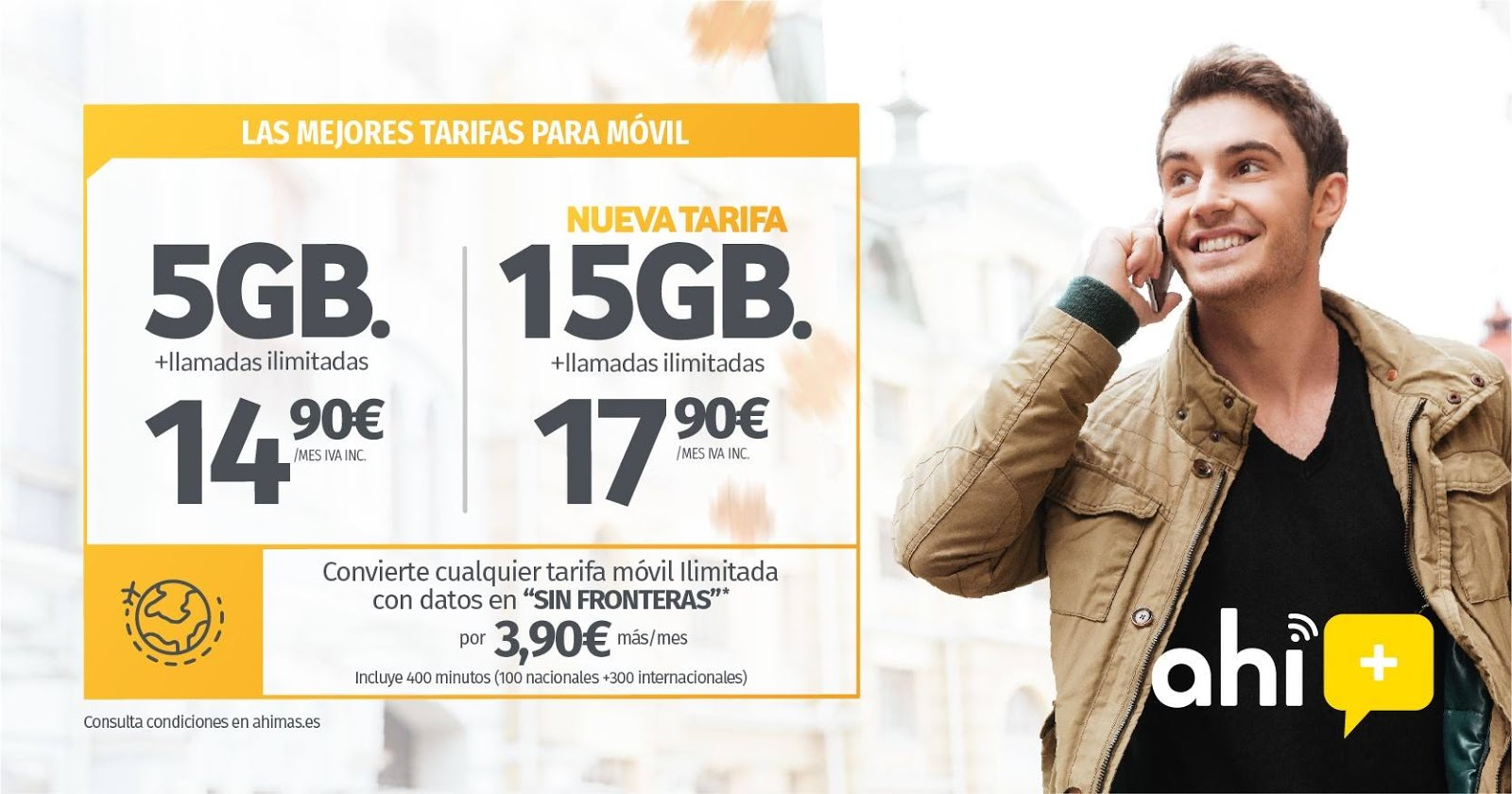 Nueva tarifa 15 GB Ahí+