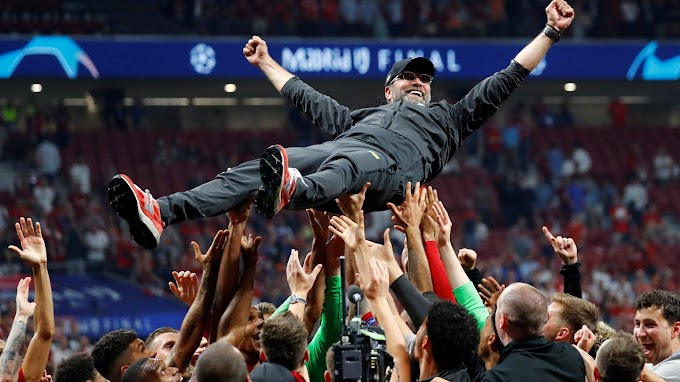 'It's for you', tearful Klopp relieved to finally win title