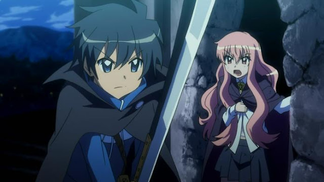 Zero no Tsukaima - Daftar Rekomendasi Anime Action Romance Terbaik