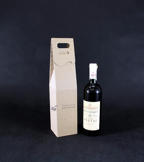 opakowanie na wino szare