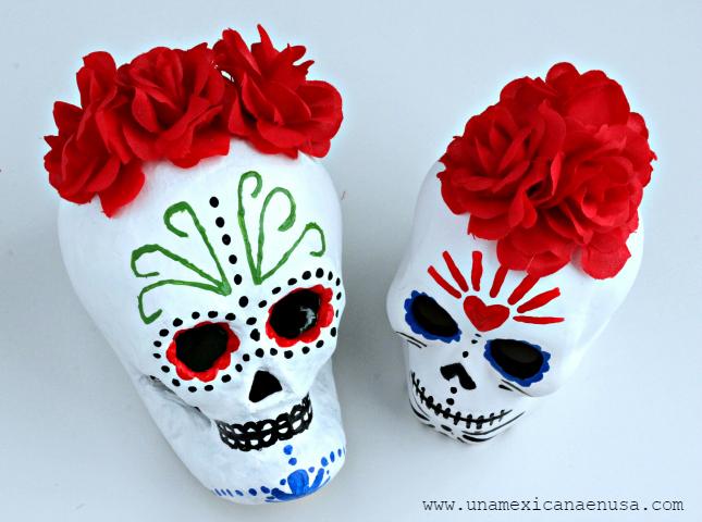 Calaveritas pintadas para tu ofrenda del día de muertos - www.unamexicanaenusa.com