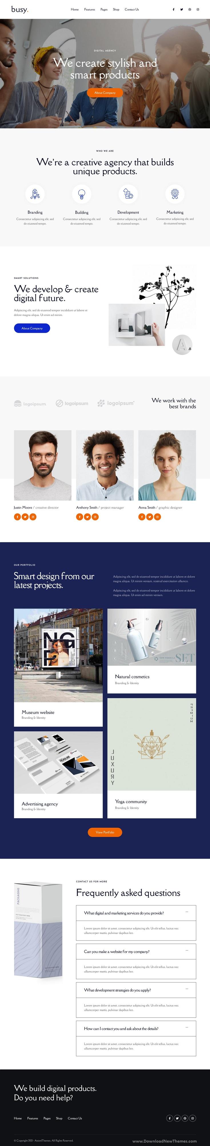 Modern Corporate & Business Portfolio Elementor Template Kit