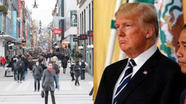 Donald Trump Tuduh Swedia Pasang Strategi Herd Immunity Karena Tak Terapkan Lockdown