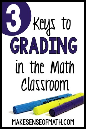 3 keys to grading in middle school math with 3 markers