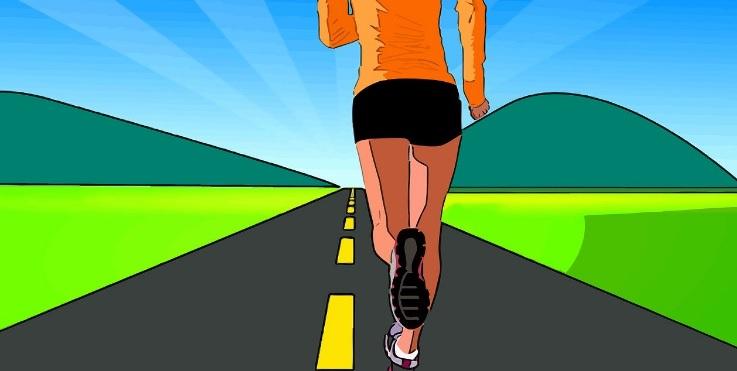 El Ejercicio y la Diabetes Mujer Corriendo por un camino