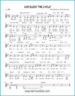 chord god bless the child lagu jazz standar