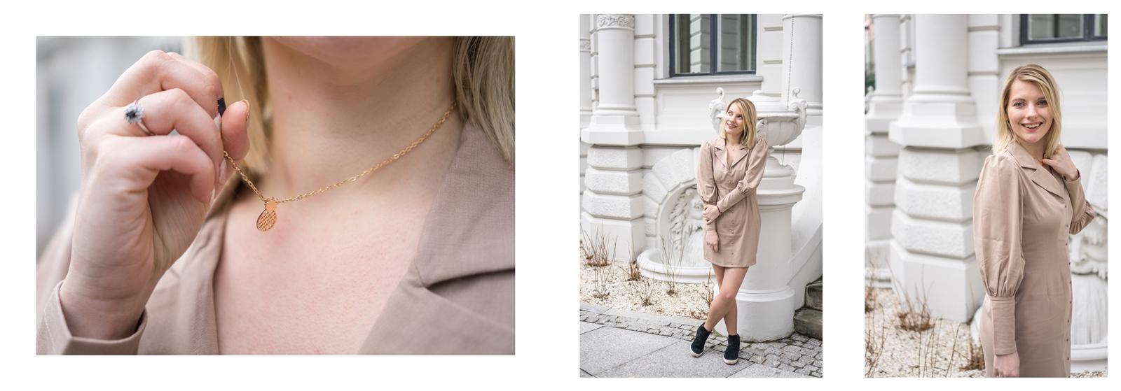 6a na-kd na kd lounge kod zniżkowy outlet rabat zakupy płaszcz na jesień kremowy sukienka modne stylizacje total look blog łódź fashion lifestyle