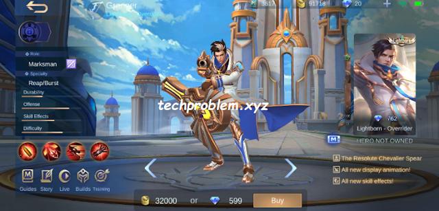 Cara Mendapatkan Skin Granger Lightborn - Overrider Gratis Mobile Legends