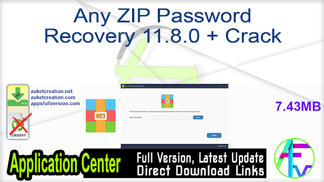 Any ZIP Password Recovery 11.8.0 + Crack