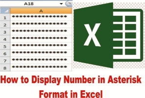 How to Display Number in Asterisk Format in Excel in Hindi