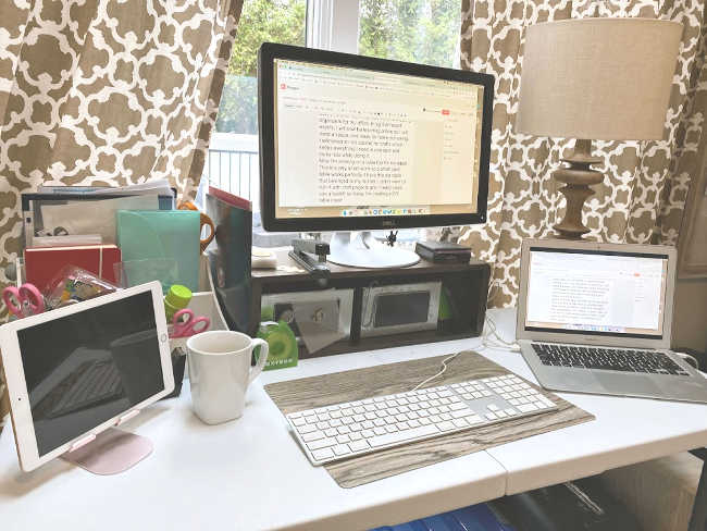 A home office and a Home School Classroom
