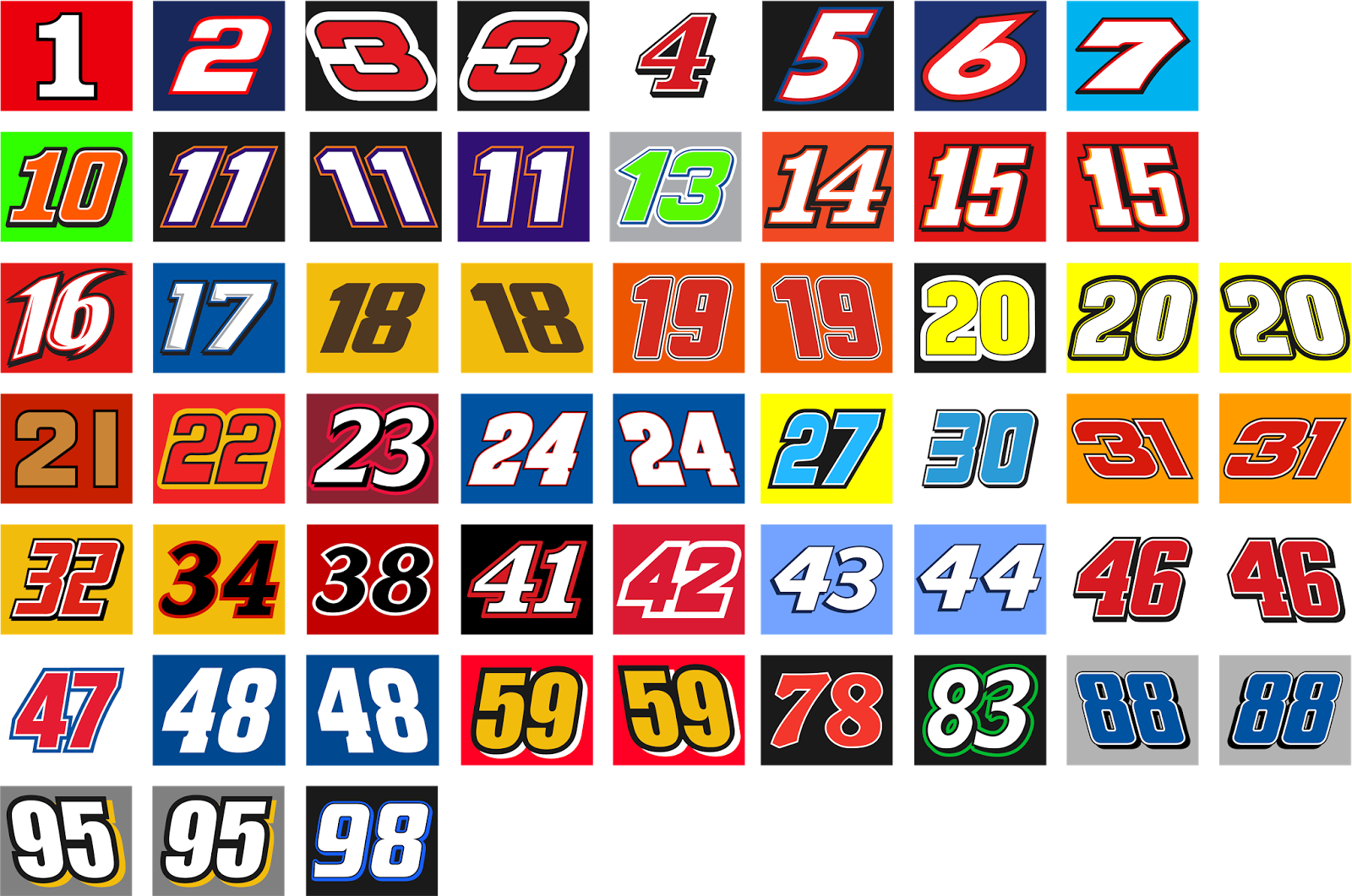 Nascar Sprint Cup Numbers Concepts Chris Creamer S