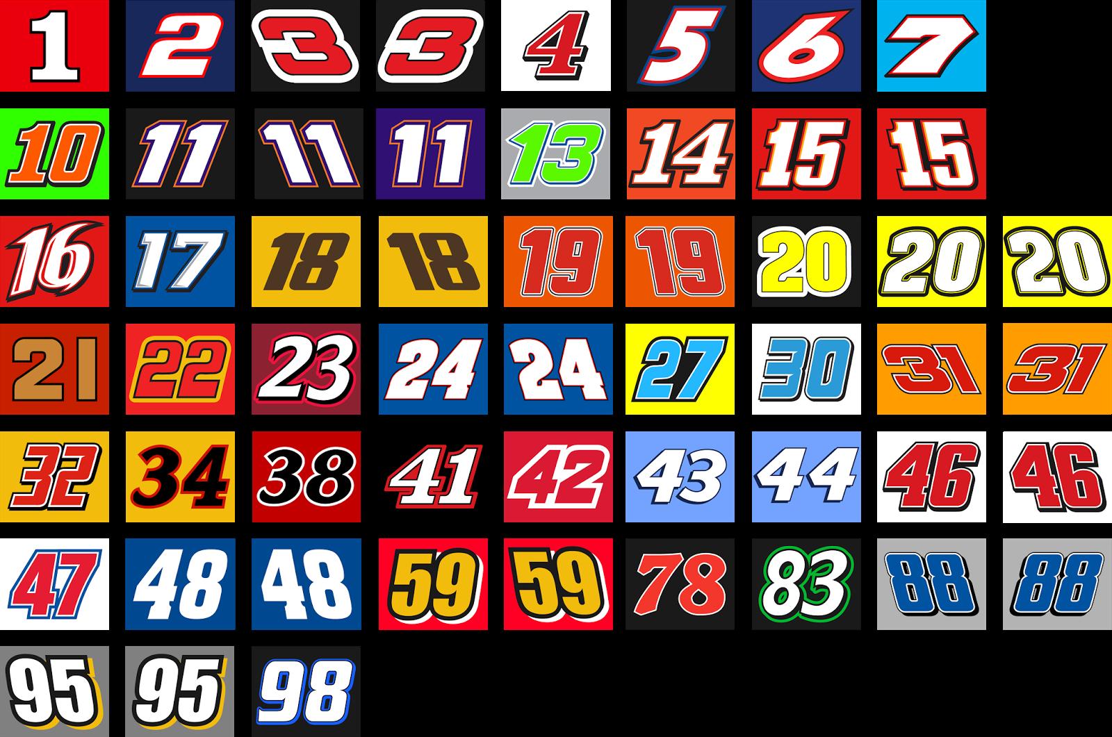 Sports Logo Spot: NASCAR Sprint Cup Number Set