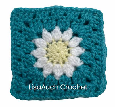 Daisy Granny Square How to crochet pattern